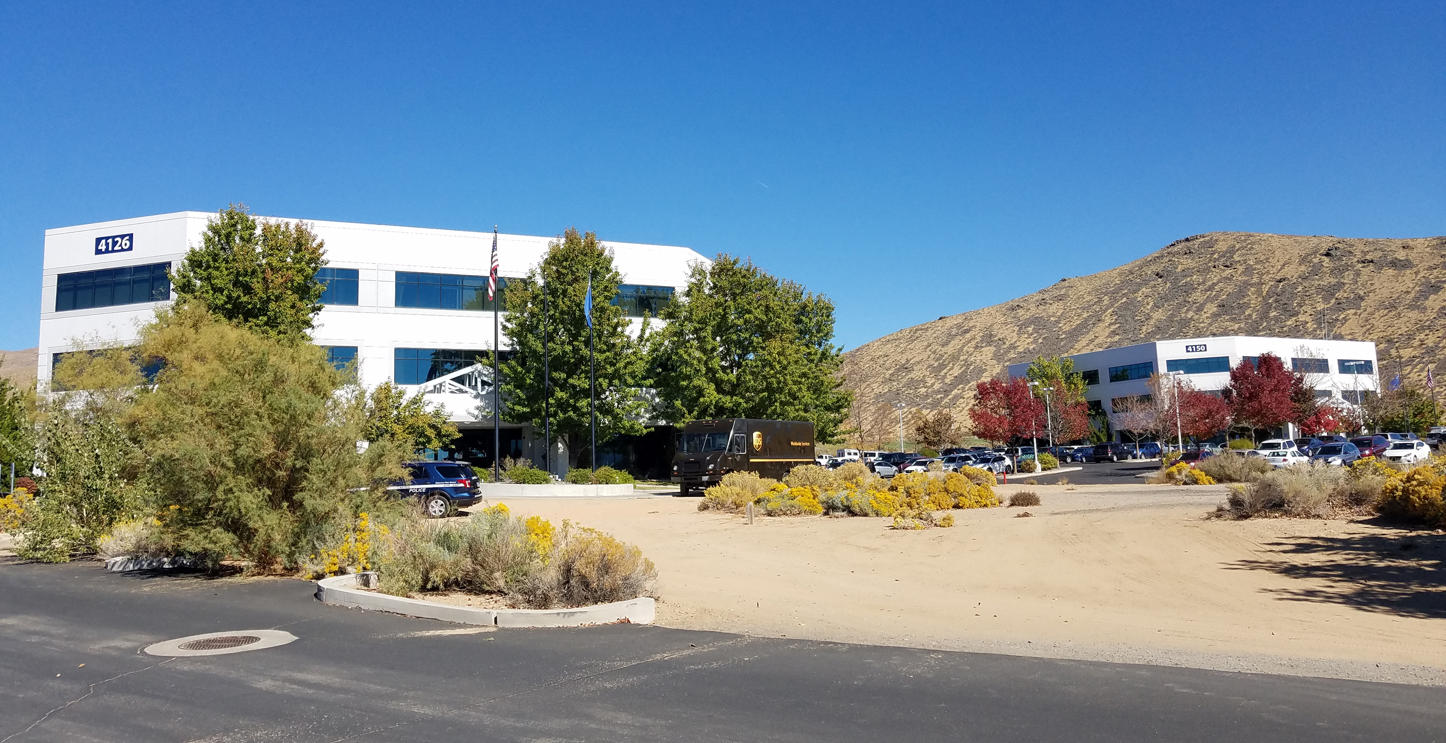 Nevada Department of Health and Human Services buildings in Carson City on Technology Way