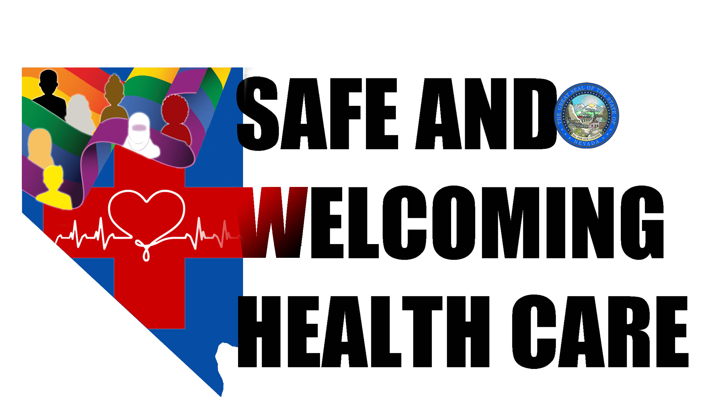 Logo for State of Nevada campaign for safe and welcoming health facilities for lesbian, gay, bisexual, transgender and queer individuals