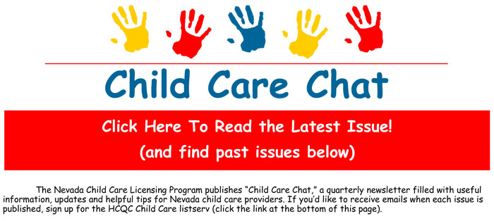 Child Care Chat newsletter graphic