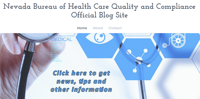 Link to the Official Blog for the Nevada Bureau of Health Care Quality and Compliance